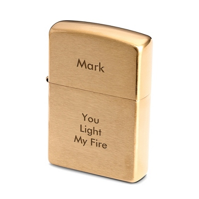 Zippo Antique Brass Lighter - Men's Accessories