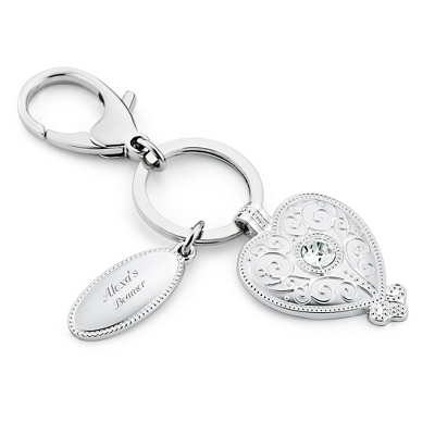 Crystal Heart Key Chain