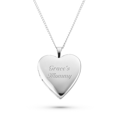 Sterling 20mm Heart Locket with complimentary Filigree Keepsake Box - Bridesmaid Jewelry