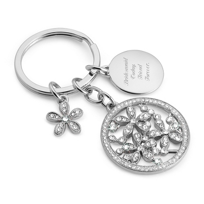 Pierced Flower Key Chain