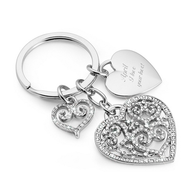 Pierced Heart Key Chain - Romantic Wedding
