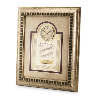 50th Anniversary Frame Clock