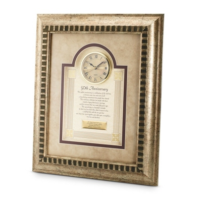 50th Anniversary Frame Clock - $90.00
