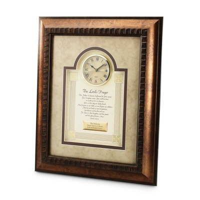 The Lord's Prayer Frame Clock - Religious Frames & Albums