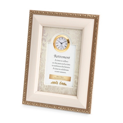 Cream Retirement Frame Clock - Business Clocks