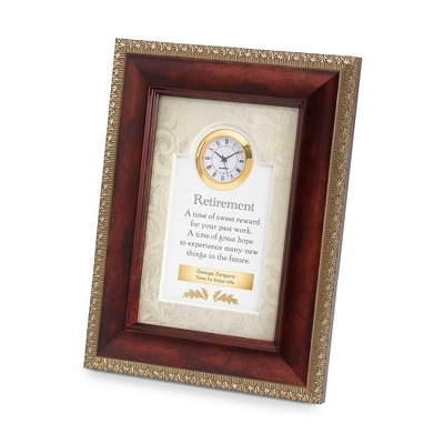 Brown Retirement Frame Clock
