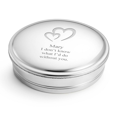 Personalized Pewter Keepsake Box - 5 inches