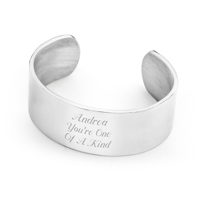 "1"" Pewter Cuff Bracelet with complimentary Round Keepsake Box"