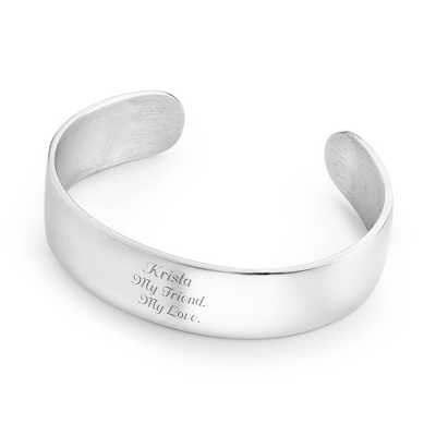 "3/4"" Pewter Cuff Bracelet with complimentary Classic Beveled Edge Round Keepsake Box"