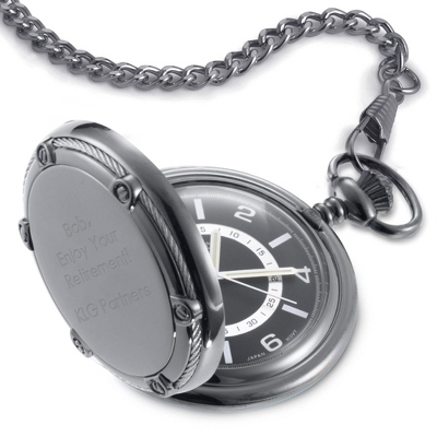 Slate Pocket Watch - Men's Jewelry
