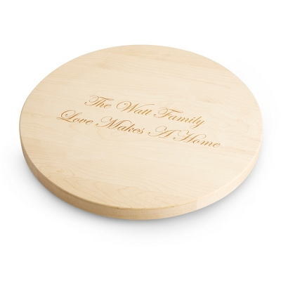 "18"" Lazy Susan Maple Cutting Board - Barware & Accessories"