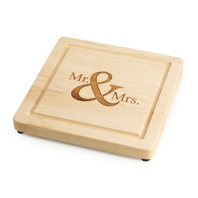 "12"" Mr. & Mrs. Maple Cutting Board - $85.00"