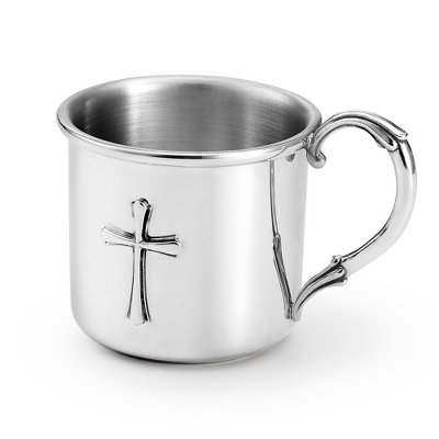 Pewter Cross Baby Cup - Baby Gifts for Boys