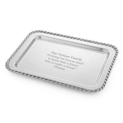 Personalized Pewter Tray