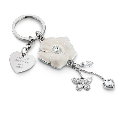 Enamel Flower Key Chain - $20.00