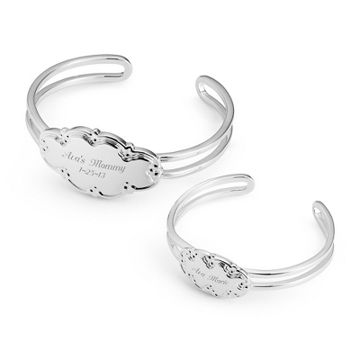 Mommy and Child Bracelet Set with complimentary Filigree Heart Box - $39.99
