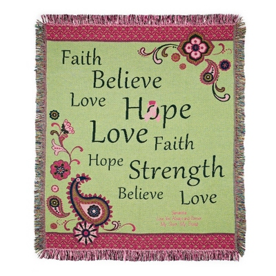 Love Hope Believe Throw - UPC 825008309012