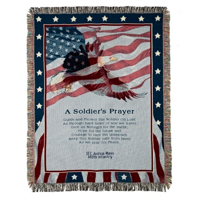 Soldiers Prayer Throw - $45.00