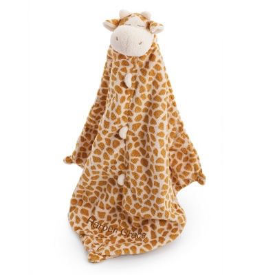 Personalized Brown Giraffe Mini Blankie
