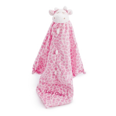 Personalized Pink Giraffe Mini Blankie by Things Remembered