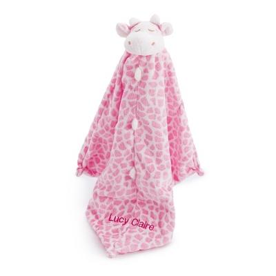 Pink Giraffe Mini Blankie