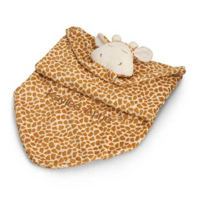 Personalized Brown Giraffe Blanket