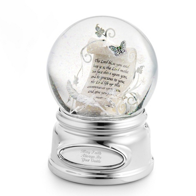 Inspirational Scroll Musical Snow Globe