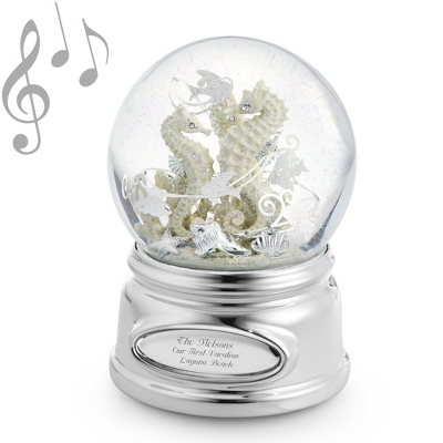 Sea Horse Musical Water Globe