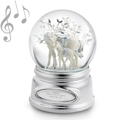 Horse and Foal Musical Water Globe