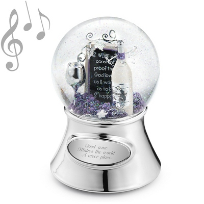 Wine Theme Musical Water Globe