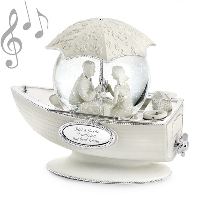 Anniversary Personalized Water Globes with Music - 8 products