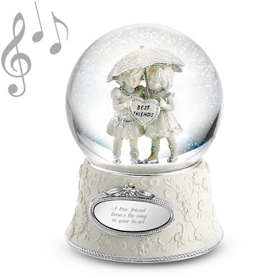 Best Friends Forever Musical Water Globe