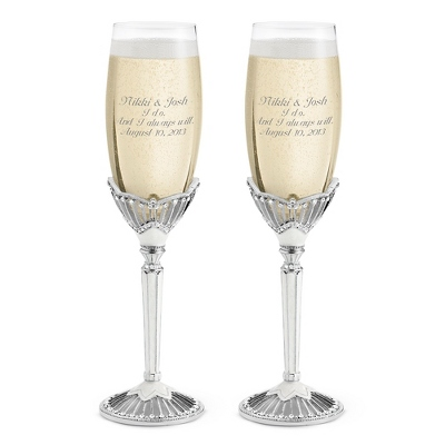 Pewter Toasting Flutes Wedding