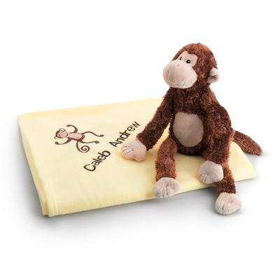 Personalized Monkey Magoo and Blankie Too by Things Remembered
