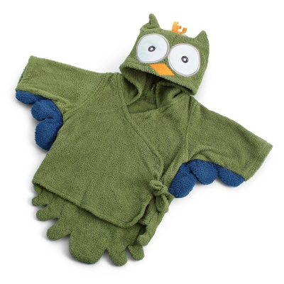 My Little Night Owl Green Robe