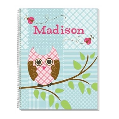 Quilted Owl Notebook