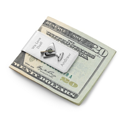 Sterling Silver Martini Money Clip