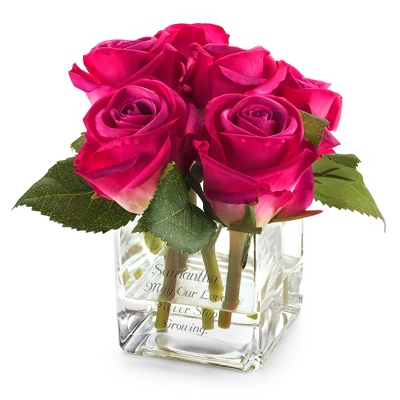 Pink Rose Petite Flower Arrangement - Vases & Floral Arrangements