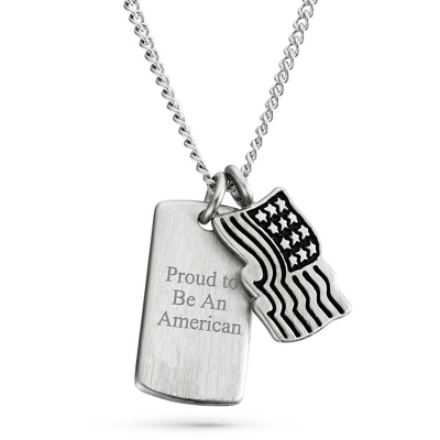 Flag Pendant with complimentary Tri Tone Valet Box