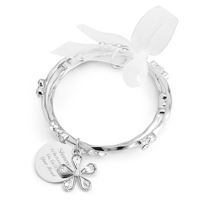 Bezel Bangle Set with complimentary Filigree Keepsake Box