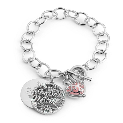 Grandmother Bracelet with Scented Charm with complimentary Filigree Keepsake Box - $14.99