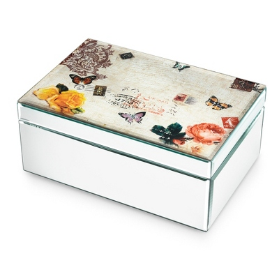 Nature Collage Mirrored Jewelry Box