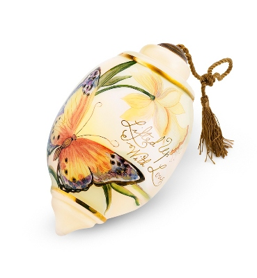 Hand Painted Butterfly Ornament