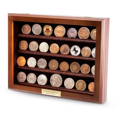 32 Coin Display with Hinged Front - $85.00