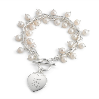 Freshwater Pearl Twist Bracelet with complimentary Filigree Keepsake Box - Fashion Bracelets & Bangles