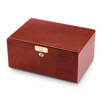 Large Locking Desktop Cigar Humidor - Smoking & Lighters