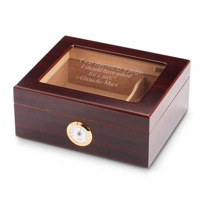 Mahogany Glasstop Desktop Cigar Humidor
