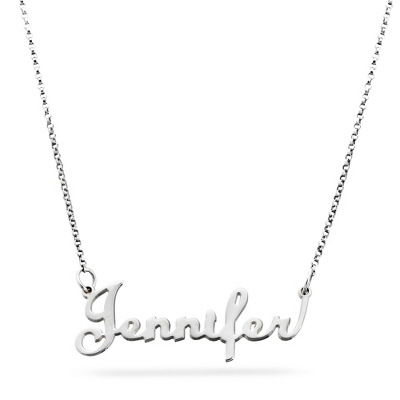 Sterling Silver Script Name Necklace with complimentary Filigree Keepsake Box - Sterling Silver Necklaces