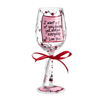 Lolita Personalize It Love Note Wine Glass