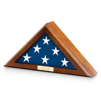 Walnut Finish 3x5 Flag Case - Military